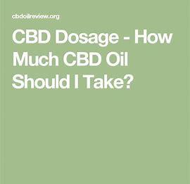CBD Oil DosageCalculator