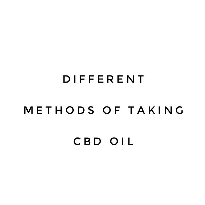 Different Methods of TakingCBD